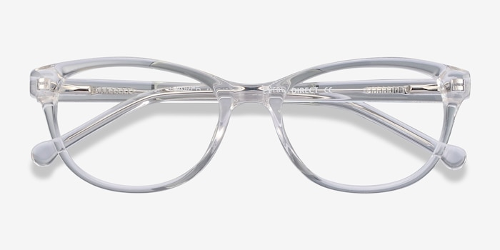 Thinker Clear Acetate Eyeglass Frames from EyeBuyDirect, Closed View