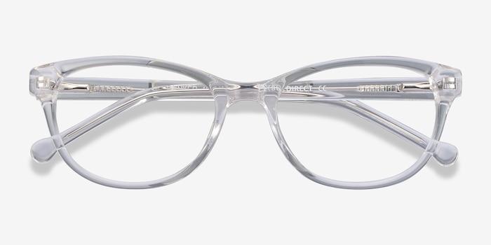 Thinker Transparent Acétate Montures de Lunettes d'EyeBuyDirect, Vue Rapprochée