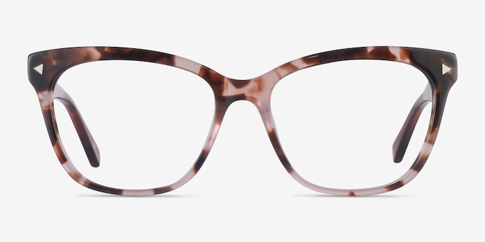 Petal Pink Tortoise Acetate Eyeglass Frames from EyeBuyDirect, Front View