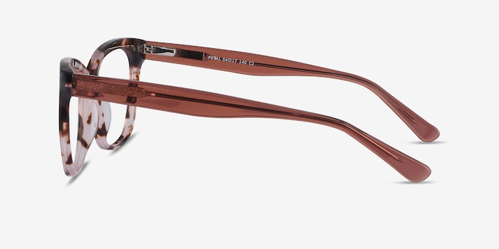 Petal Pink Tortoise Acetate Eyeglass Frames from EyeBuyDirect, Side View