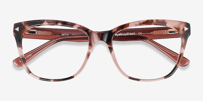 Petal Pink Tortoise Acetate Eyeglass Frames from EyeBuyDirect, Closed View