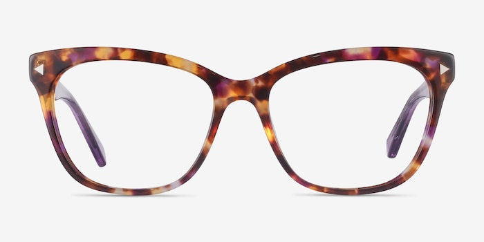 Petal Purple Tortoise Acetate Eyeglass Frames from EyeBuyDirect, Front View
