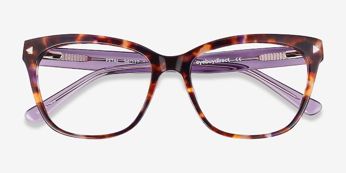 Petal Purple Tortoise Acetate Eyeglass Frames from EyeBuyDirect, Closed View