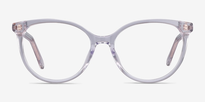 Nala Clear Acetate Eyeglass Frames from EyeBuyDirect, Front View