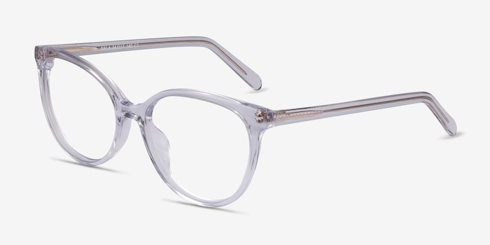 Nala Clear Acetate Eyeglass Frames from EyeBuyDirect, Angle View
