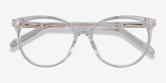 Nala Clear Acetate Eyeglass Frames from EyeBuyDirect, Closed View
