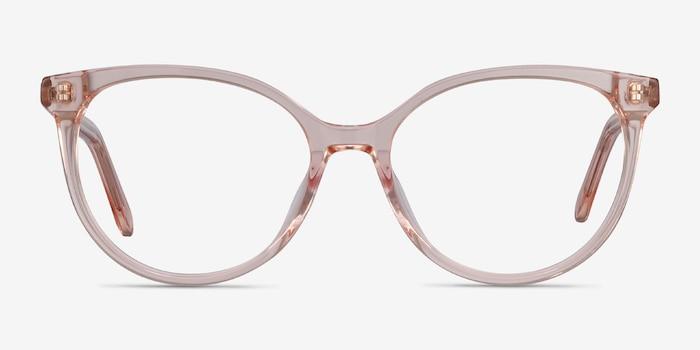 Nala Clear Pink Acétate Montures de Lunettes d'EyeBuyDirect, Vue de Face