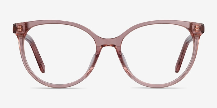 Nala Clear Purple Acetate Eyeglass Frames from EyeBuyDirect, Front View