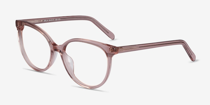 Nala Clear Purple Acetate Eyeglass Frames from EyeBuyDirect, Angle View