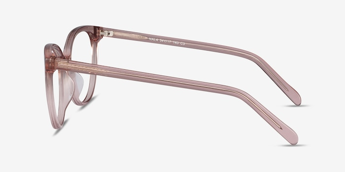 Nala Clear Purple Acetate Eyeglass Frames from EyeBuyDirect, Side View