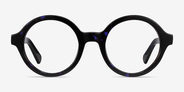 Groove Blue Tortoise Acetate Eyeglass Frames from EyeBuyDirect, Front View