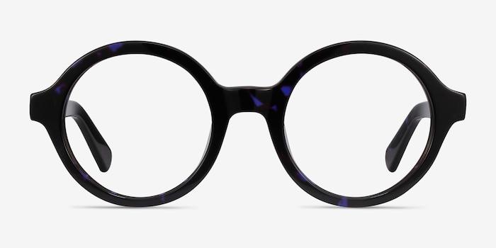 Groove Blue Tortoise Acétate Montures de Lunette de vue d'EyeBuyDirect, Vue de Face