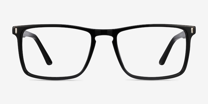 Arise Black Acetate Eyeglass Frames from EyeBuyDirect, Front View