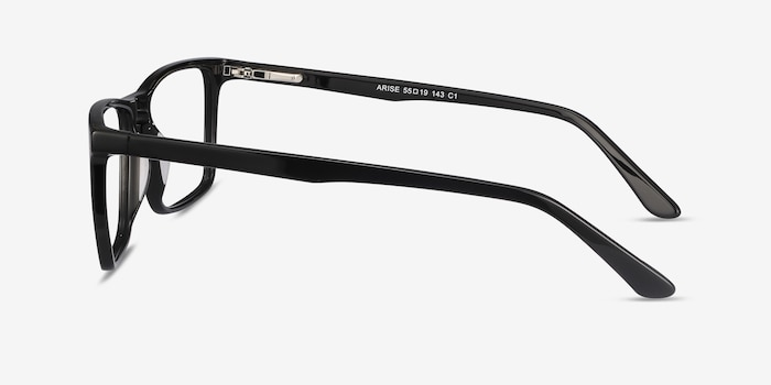 Arise Black Acetate Eyeglass Frames from EyeBuyDirect, Side View