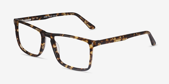 Arise Tortoise Acetate Eyeglass Frames from EyeBuyDirect, Angle View