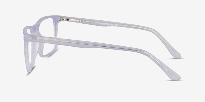 Arise Purple Striped Acetate Eyeglass Frames from EyeBuyDirect, Side View