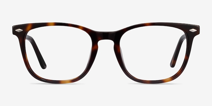 Honor Tortoise Acetate Eyeglass Frames from EyeBuyDirect, Front View