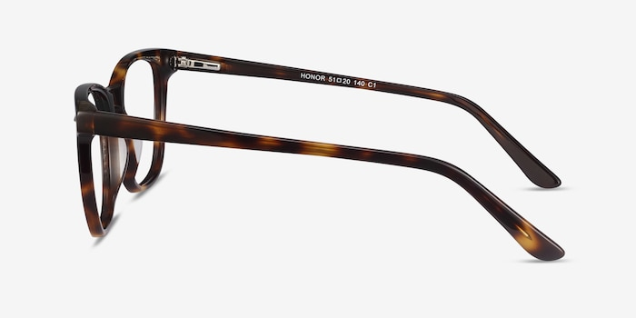Honor Tortoise Acetate Eyeglass Frames from EyeBuyDirect, Side View