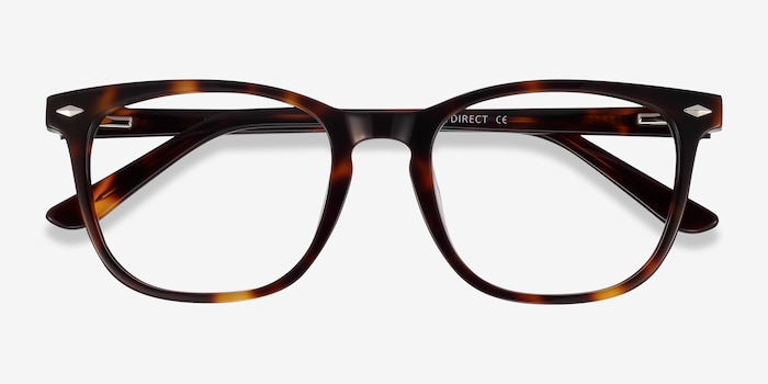 Honor Tortoise Acetate Eyeglass Frames from EyeBuyDirect, Closed View