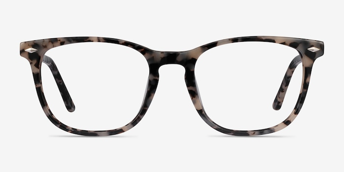 Honor Gray Tortoise Acetate Eyeglass Frames from EyeBuyDirect, Front View
