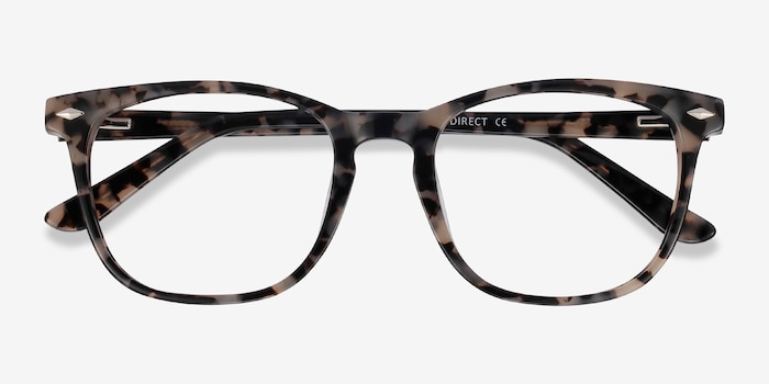 Honor Gray Tortoise Acetate Eyeglass Frames from EyeBuyDirect, Closed View