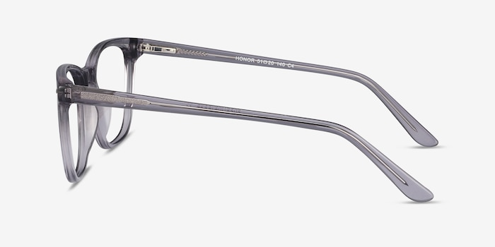 Honor Clear Gray Acetate Eyeglass Frames from EyeBuyDirect, Side View
