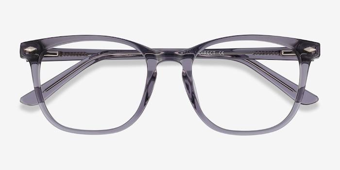 Honor Clear Gray Acétate Montures de Lunette de vue d'EyeBuyDirect, Vue Rapprochée