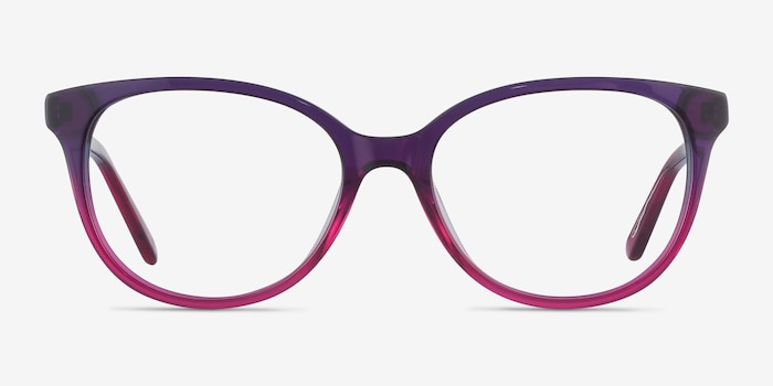 Pursuit Purple Acetate Eyeglass Frames from EyeBuyDirect, Front View