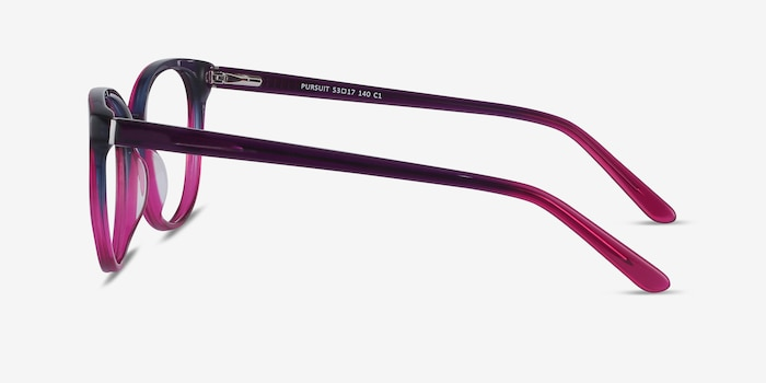 Pursuit Purple Acetate Eyeglass Frames from EyeBuyDirect, Side View