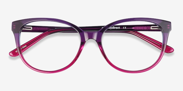Pursuit Purple Acetate Eyeglass Frames from EyeBuyDirect, Closed View