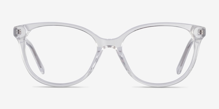 Pursuit Clear Acetate Eyeglass Frames from EyeBuyDirect, Front View