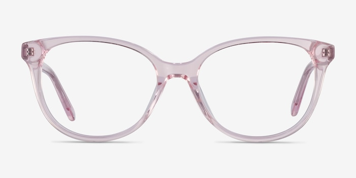 Pursuit Pink Acetate Eyeglass Frames from EyeBuyDirect, Front View