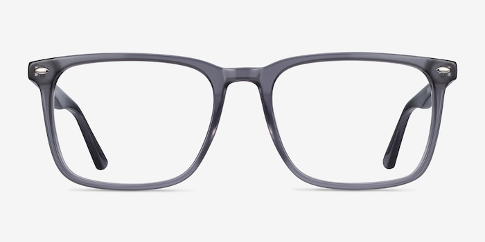 Tactician Gray Acetate Eyeglass Frames from EyeBuyDirect, Front View