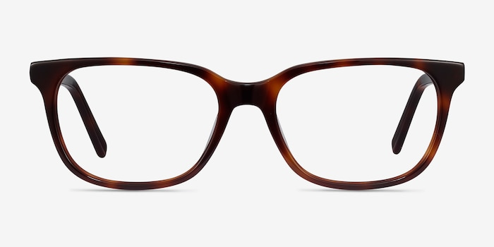 Peruse Brown Tortoise Acetate Eyeglass Frames from EyeBuyDirect, Front View