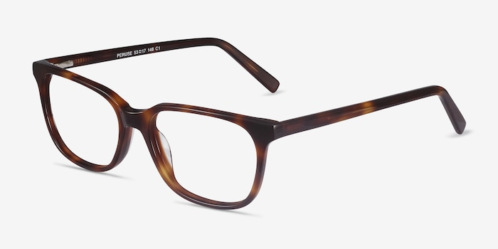 Peruse Brown Tortoise Acetate Eyeglass Frames from EyeBuyDirect, Angle View