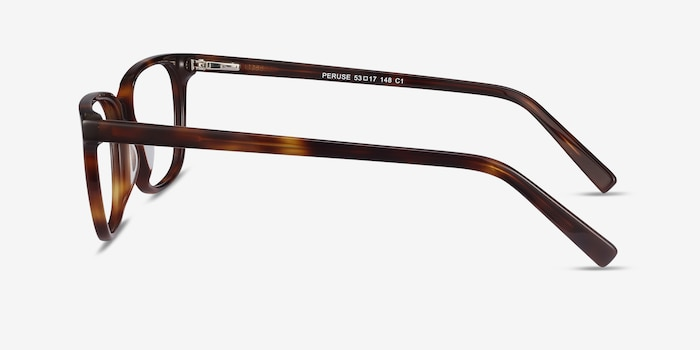 Peruse Brown Tortoise Acetate Eyeglass Frames from EyeBuyDirect, Side View