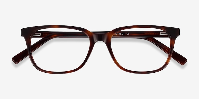 Peruse Brown Tortoise Acetate Eyeglass Frames from EyeBuyDirect, Closed View