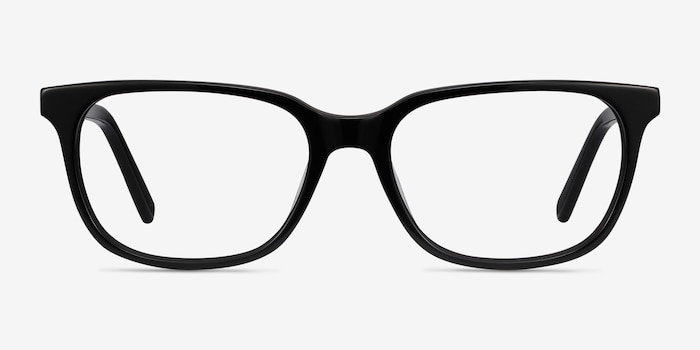 Peruse Black Acetate Eyeglass Frames from EyeBuyDirect, Front View
