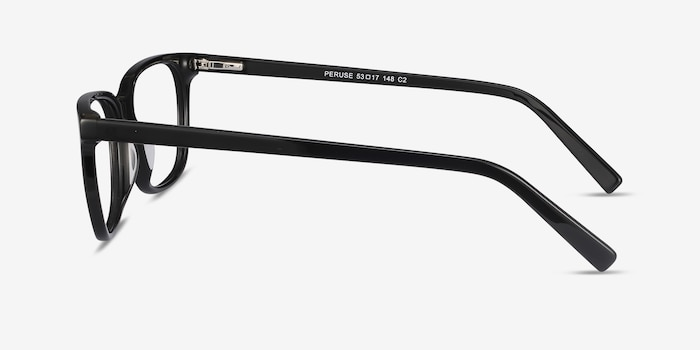 Peruse Black Acetate Eyeglass Frames from EyeBuyDirect, Side View