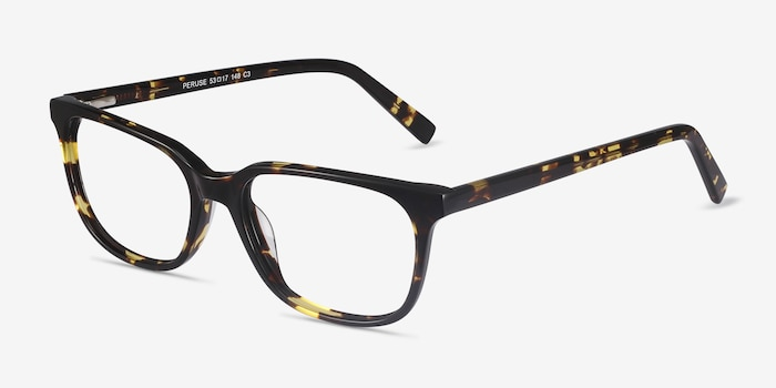 Peruse Tortoise Acetate Eyeglass Frames from EyeBuyDirect, Angle View