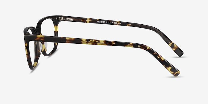 Peruse Tortoise Acetate Eyeglass Frames from EyeBuyDirect, Side View