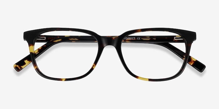 Peruse Tortoise Acetate Eyeglass Frames from EyeBuyDirect, Closed View
