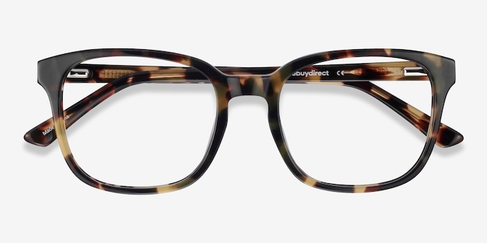 Tower Green Tortoise Acetate Eyeglass Frames from EyeBuyDirect, Closed View
