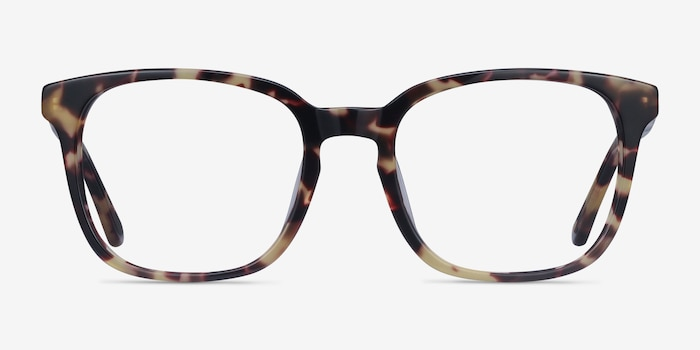 Tower Tortoise Acetate Eyeglass Frames from EyeBuyDirect, Front View