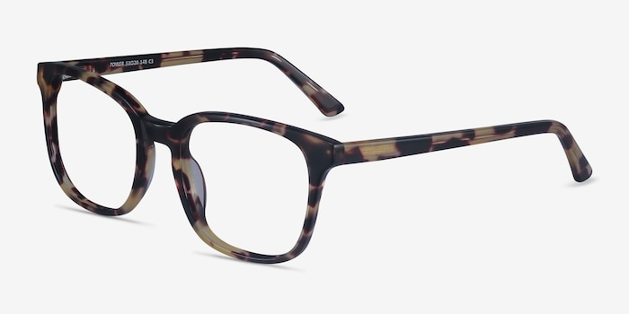 Tower Tortoise Acetate Eyeglass Frames from EyeBuyDirect, Angle View