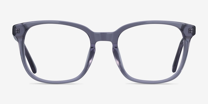 Tower Gray Acetate Eyeglass Frames from EyeBuyDirect, Front View