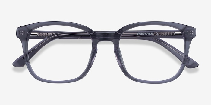 Tower Gray Acetate Eyeglass Frames from EyeBuyDirect, Closed View