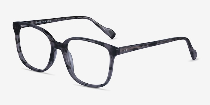 Joanne Gray Tortoise Acetate Eyeglass Frames from EyeBuyDirect, Angle View