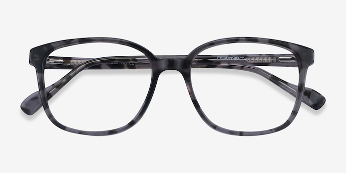 Joanne Gray Tortoise Acetate Eyeglass Frames from EyeBuyDirect, Closed View