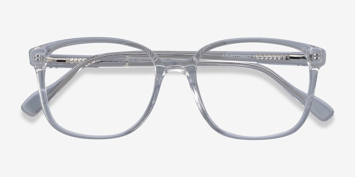 Joanne Clear Acetate Eyeglass Frames from EyeBuyDirect, Closed View